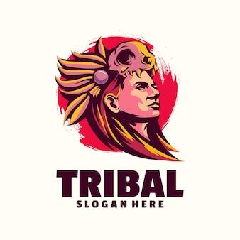 부족 여성 로고