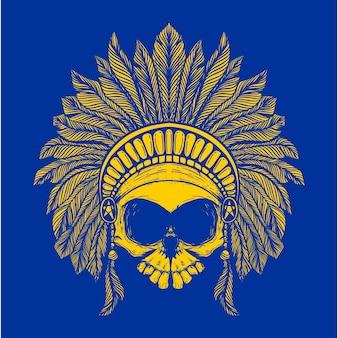 Tribe skull illustration