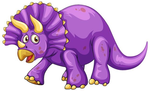 Un personaggio dei cartoni animati di dinosauro triceratopo