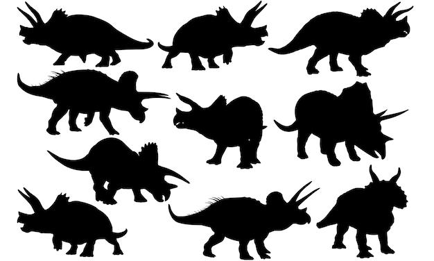 トリケラトプス恐竜シルエット