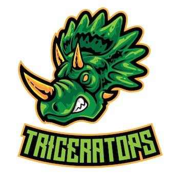 Логотип triceratops esport
