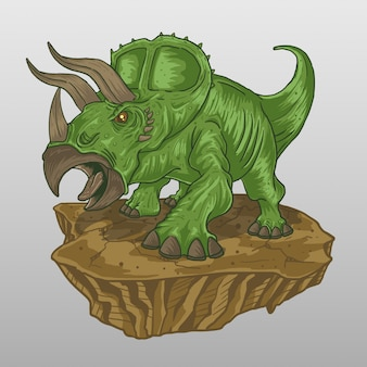 Triceratops green screaming