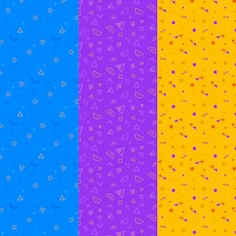 三色幾何学模様パック