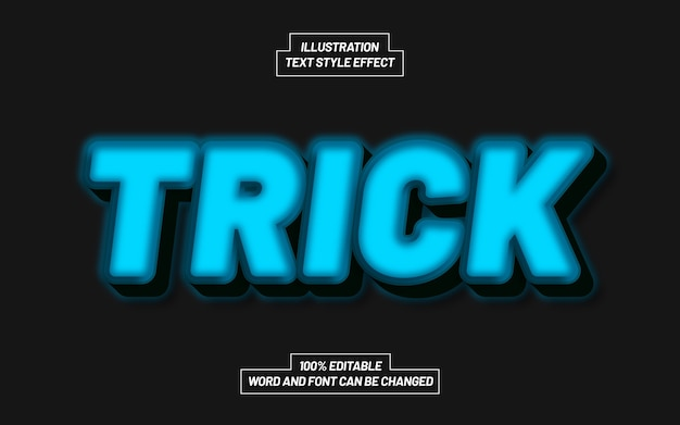 Trick 3d bold text style effect