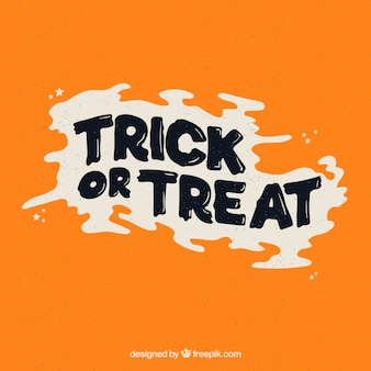 Trick or treat writing in vintage style