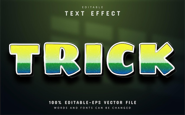Trick text, gradient style text effect