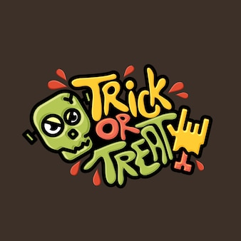 Trick or treat cartoon