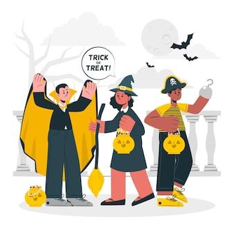 Trick or treat concept illustration