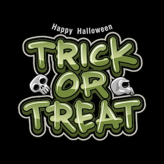 Trick or treat design text vector
