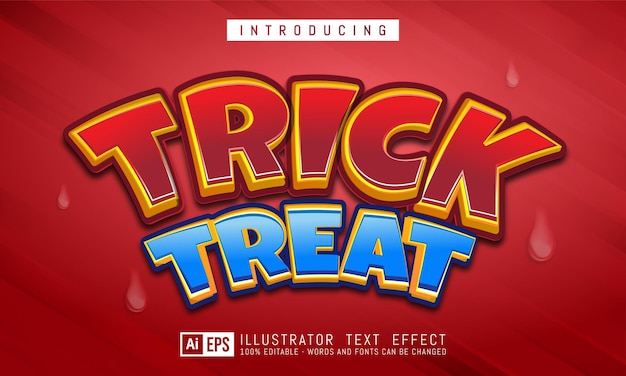 Trick or treat editable text style effect suitable for halloween banner event theme