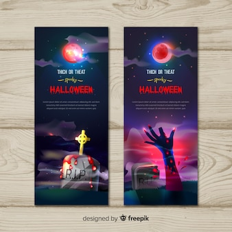 Trick or treat halloween banners