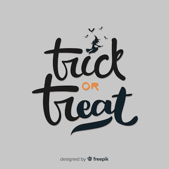 Trick or treat halloween lettering