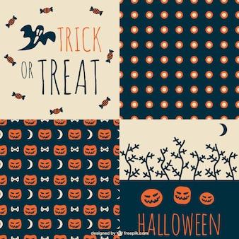 Trick or treat halloween pattern set