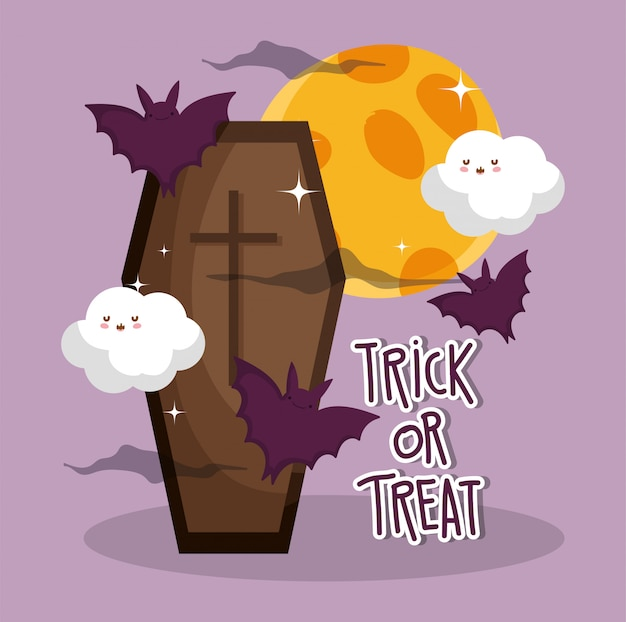 Trick or treat for happy halloween