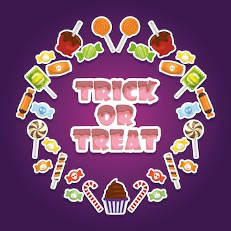 Trick or treat, happy halloween
