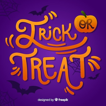 Trick or treat lettering background