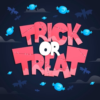 Trick or treat lettering template