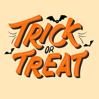 Trick or treat lettering