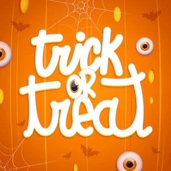 Trick or treat template lettering