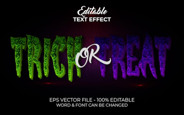 Trick or treat text effect style editable text effect halloween theme