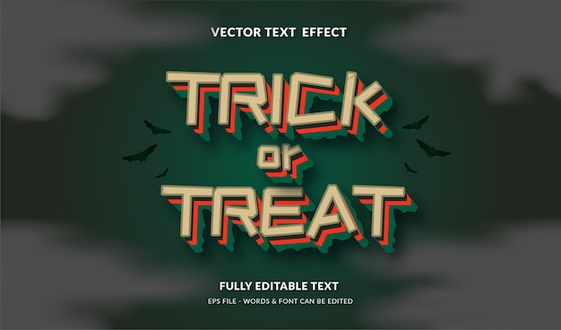 Trick or treat with modern style editable text effect