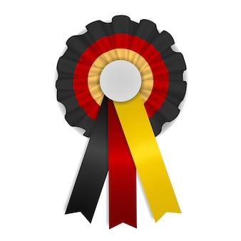 검정, 빨강 및 노랑의 삼색 독일 코 케이드