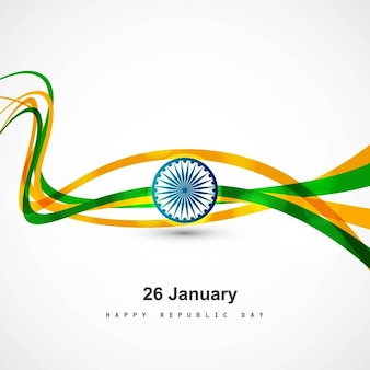 Tricolor wavy republic day background