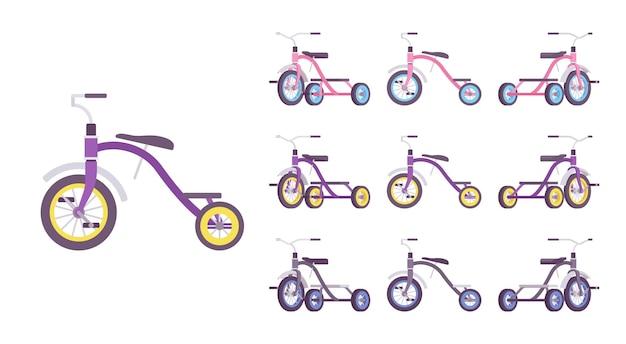 세발 자전거 어린이 자전거 세트