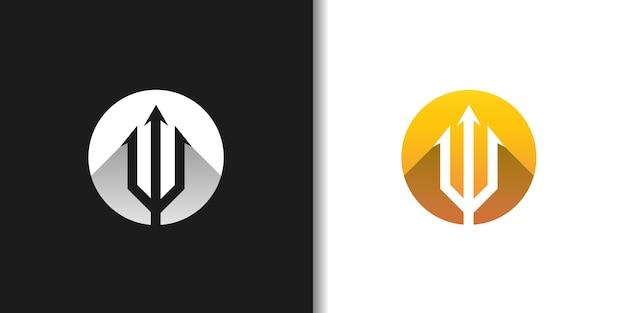 Trident in circle logo