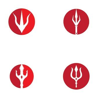 트라이던트 로고 템플릿 벡터 아이콘 일러스트 디자인