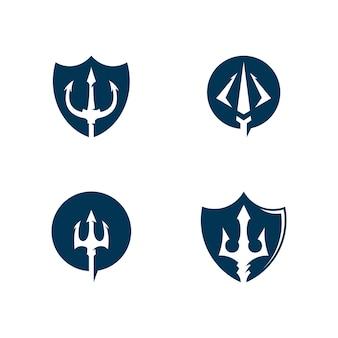 トライデントベクトルロゴアイコンイラスト記号記号