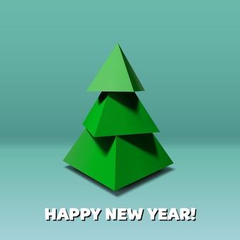 Tridimensional christmas tree