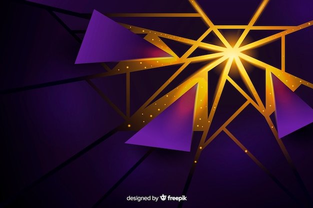 Tridimensional explosion with light background
