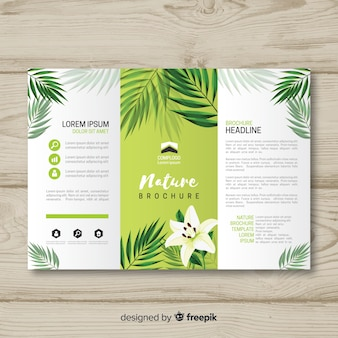 Triflod nature brochure template