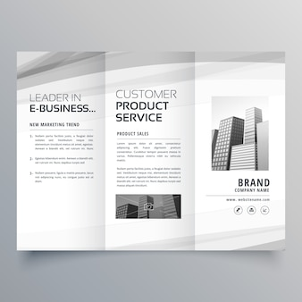 Trifold brochure design template for your business