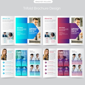 Trifold brochure template design