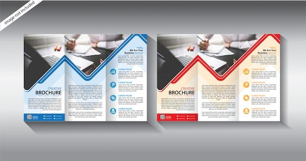 Тройной шаблон брошюры для макета листовки
