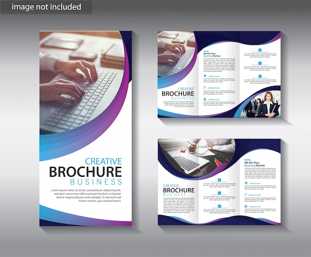 Trifold brochure template for layout leaflet