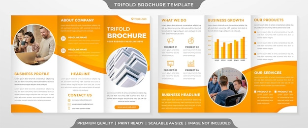 Trifold brochure template premium style
