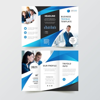 Trifold brochure template theme