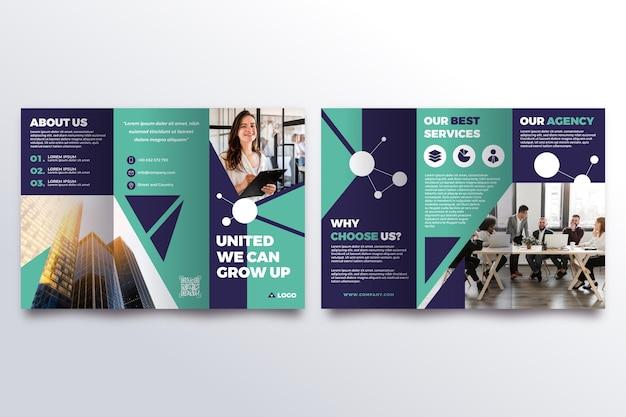 Шаблон брошюры trifold с фото