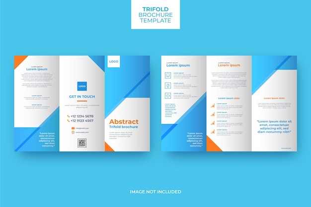Trifold brochure template