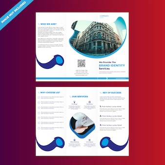Trifold business brochure design template
