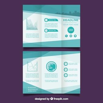 Trifold progettazione di brochure aziendali