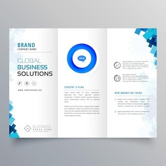 Trifold business brochure vector design template