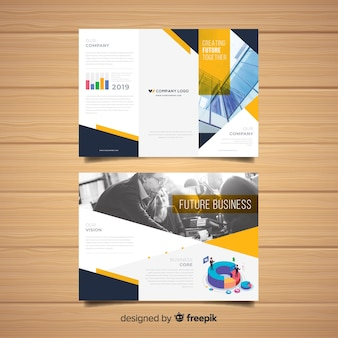 Trifold business flyer template