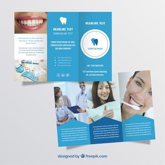 3つの歯科医パンフレット 無料ベクター