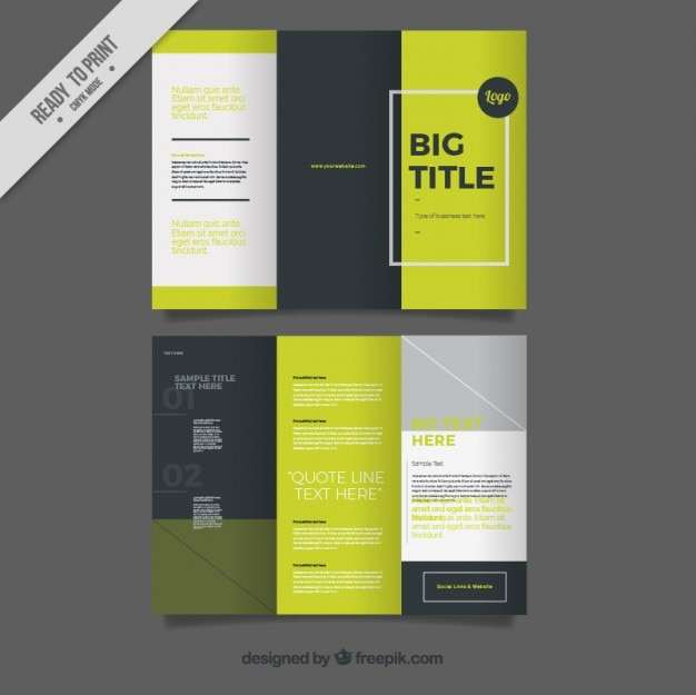 tri fold brochure design free download
