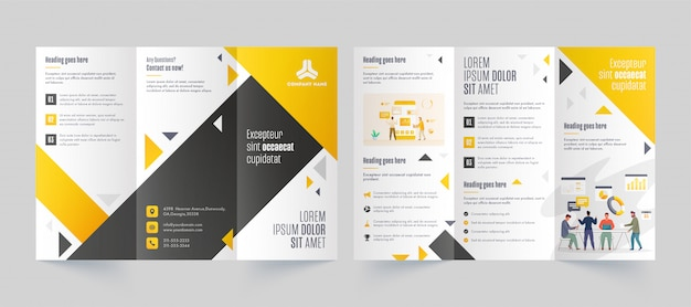 Trifold leaflet template