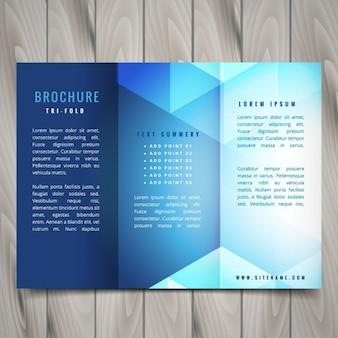 多角形状のパンフレットのデザインをつ折り